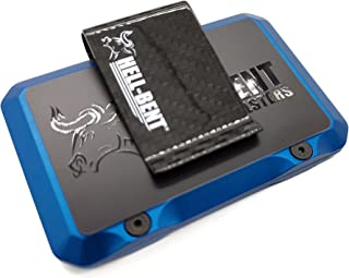 product image for 3.O BLUE ALUMINUM WALLET W/REMOVABLE MONEY CLIP RFID PROTECTED