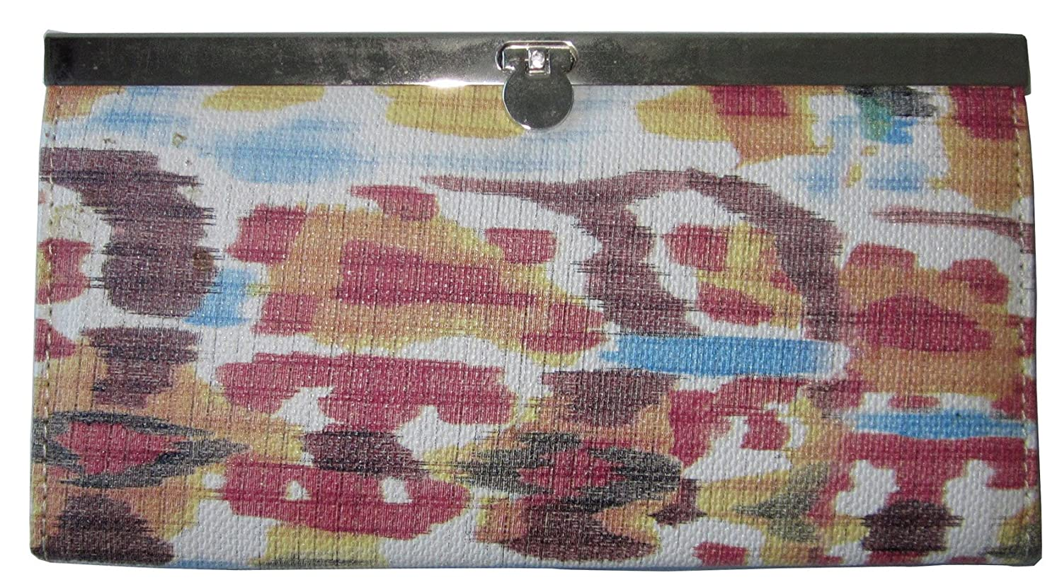 TOPCHOICE Womens Multicolored Ikat Accordion Clutch Wallet