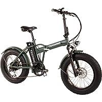 Tucano Bikes Monster 20 – Vélo électrique pliant Fat Bike 20 avec batterie intégrée LG et display lcd avec 9 niveaux de aide en couleur vert mat