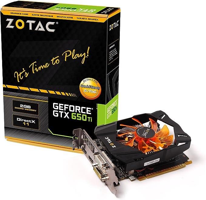 ZOTAC NVIDIA GeForce GTX 650 Ti 2GB GDDR5 2DVI/2HDMI PCI-Express Video Card ZT-61102-10M
