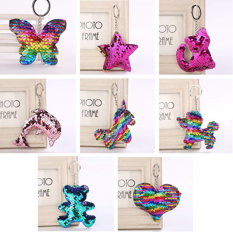Set 10 Penne Glitterate Omaggio Portachiavi Girabrilla L.O.L Surprise Biggie Pets Set di Bambole di Animali Cane Dollmation con Accessori
