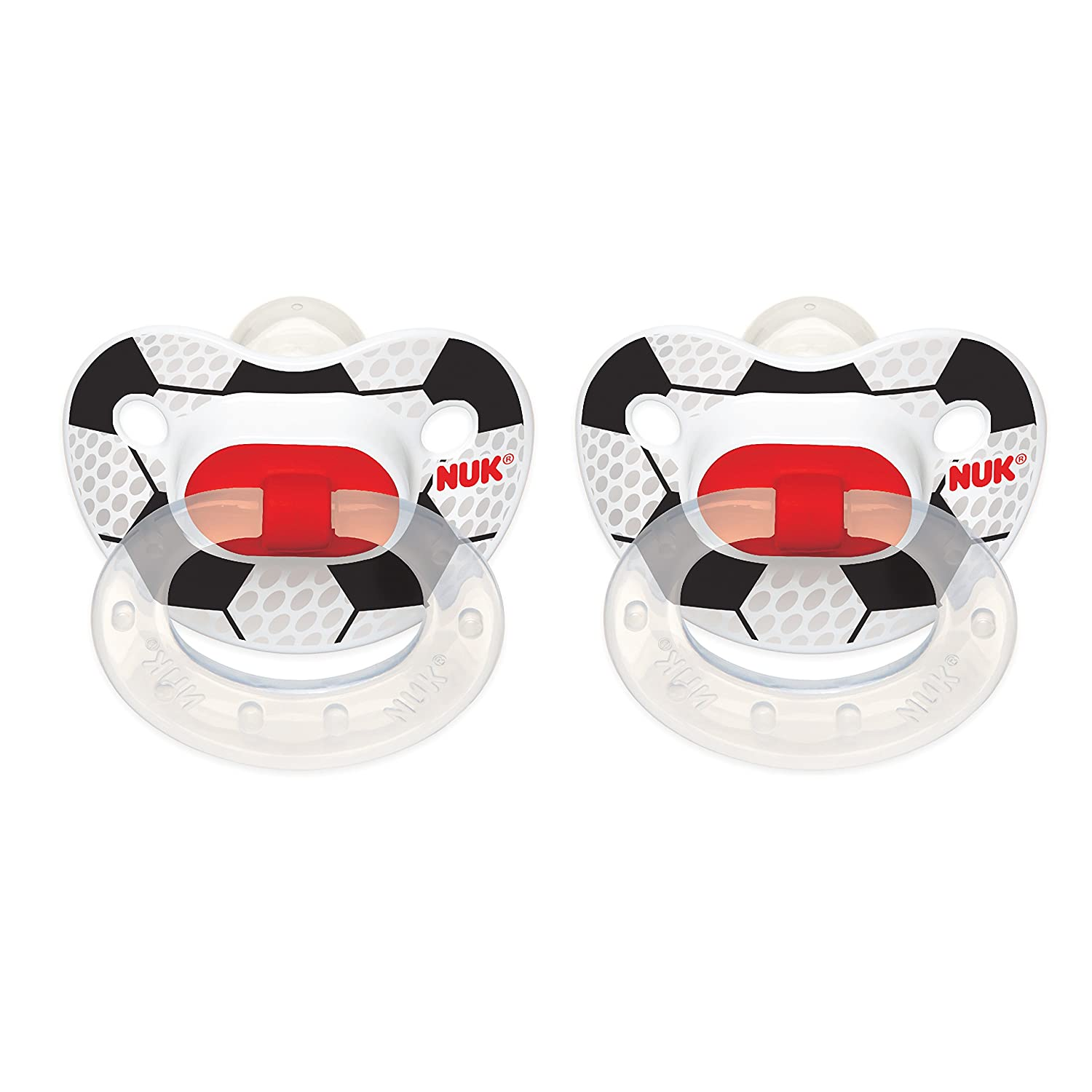 NUK Puller Pacifier, 6-18 Months, Sports/Assorted Colors, 1 pk