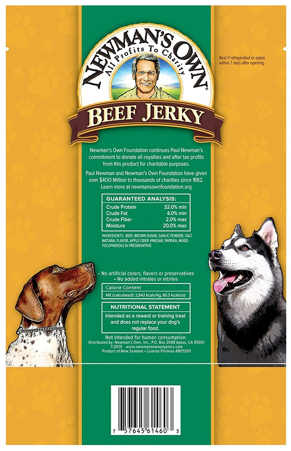 Newman's Own Grain Free Grass Fed Beef Jerky Dog Treats 2 Flavor Variety with Toy Bundle: (1) Original Recipe, and (1) Beef & Sweet Potato Recipe, 5 Oz. Ea. (2 Bags Total) by Newman's Own (Image #3)