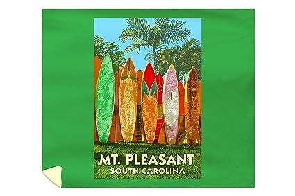 Isla de las palmas, Carolina del Sur – Tabla de surf valla (88 x