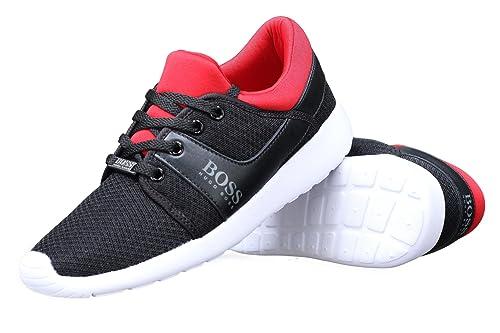 0259b645ebd Hugo Boss - Zapatillas de Deporte para niño Negro Negro  Amazon.es  Zapatos  y complementos