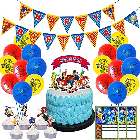 Superb Amazon Com Nelton Birthday Party Supplies Includes Banner Cake Funny Birthday Cards Online Alyptdamsfinfo