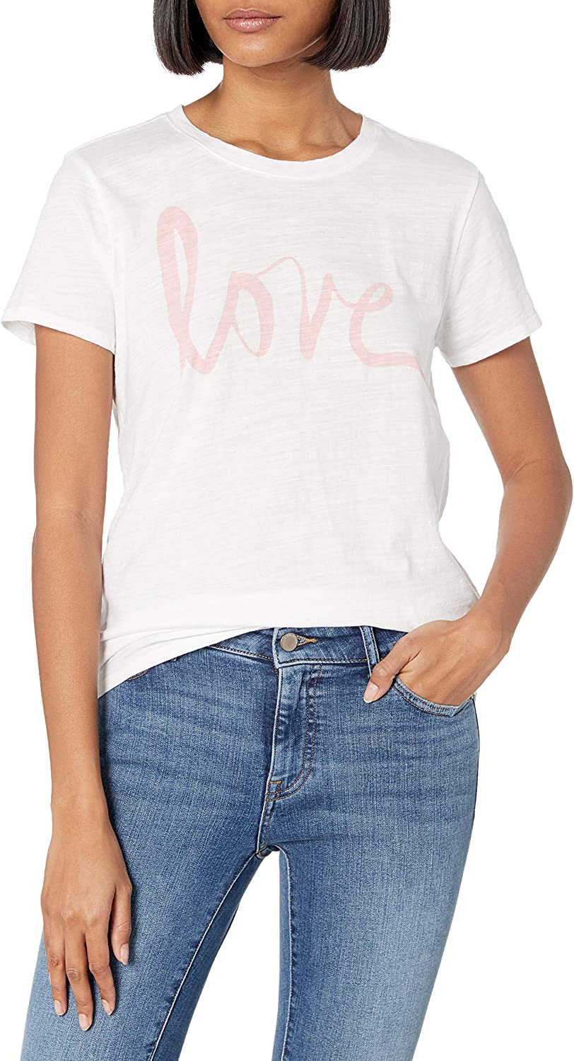 Lucky Brand Women's Short Sleeve Scoop Neck Love Tee