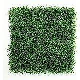 ULAND Artificial Boxwood Hedges Panels, Decorative Privacy Fence Screening, UV proof, 100% Fresh PE, Garden Wall Decoration  (12, Green Jade)