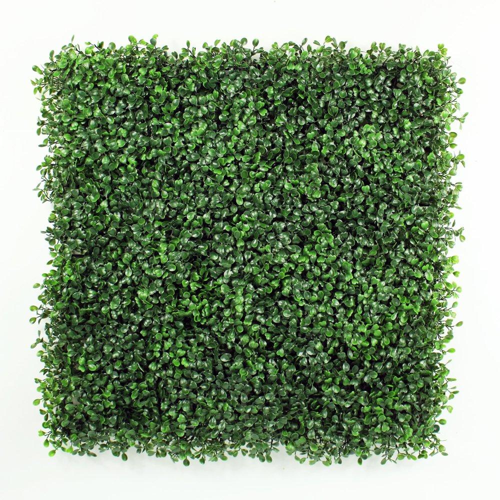 フェイクグリーンマット 人工植物葉フェンス プラスチックパネル 壁掛 壁面緑化 店舗装飾 ベランダ 家の庭の装飾 50x50cm/枚(12枚, 緑) B072K5B2YS 12枚|緑 緑 12枚