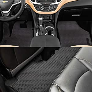 Bonbo Floor Liner Mats for Chevrolet Equinox 2018-2020,Custom Fit,Front and Rear Seat Floor Mats,All-Weather Guard,Heavy Duty Rubber,Odorless (Pack of 3)