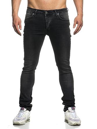 Tazzio Slim Fit Used Look Herren Biker Style Jeans 16519 Schwarz 32 ... e1a2a66822