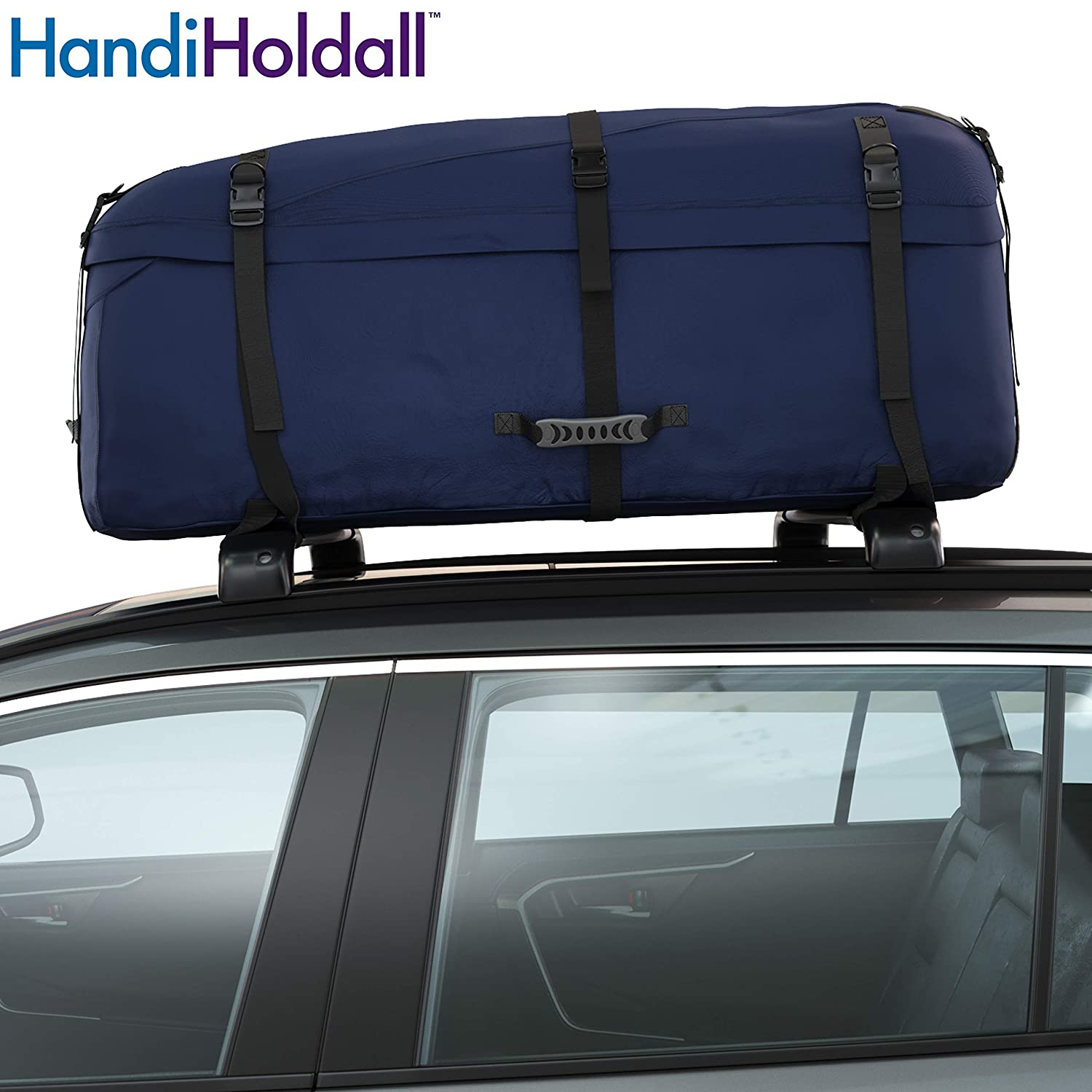 Navy Blue HandiHoldall Large Vehicle Roof Bag // Top Box 330L Weather Resistant Cargo Carrier