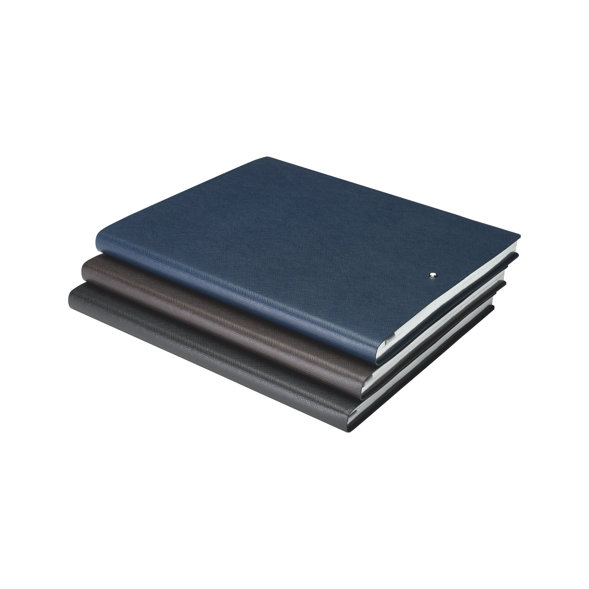 Montblanc Sketch Book Black Lined #149 Fine Stationery 116931 / Elegant Sketching Book with Leather Binding and Ruled Pages / 1 x (8.2 x 10.2 in.)
