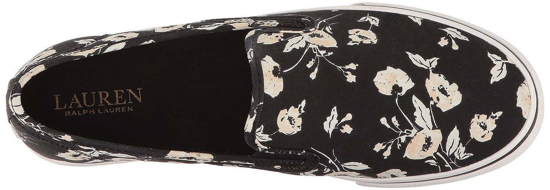 Lauren by Ralph Lauren Women's Janis-Sk-VLC Sneaker B0767SZKF1 5 B(M) US|Pink/Vanilla