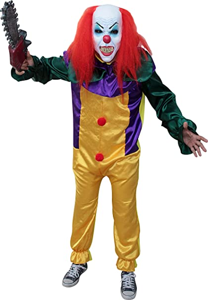 Sponch Costumes Killer Prank Clown Costume Adult (Choose Size)