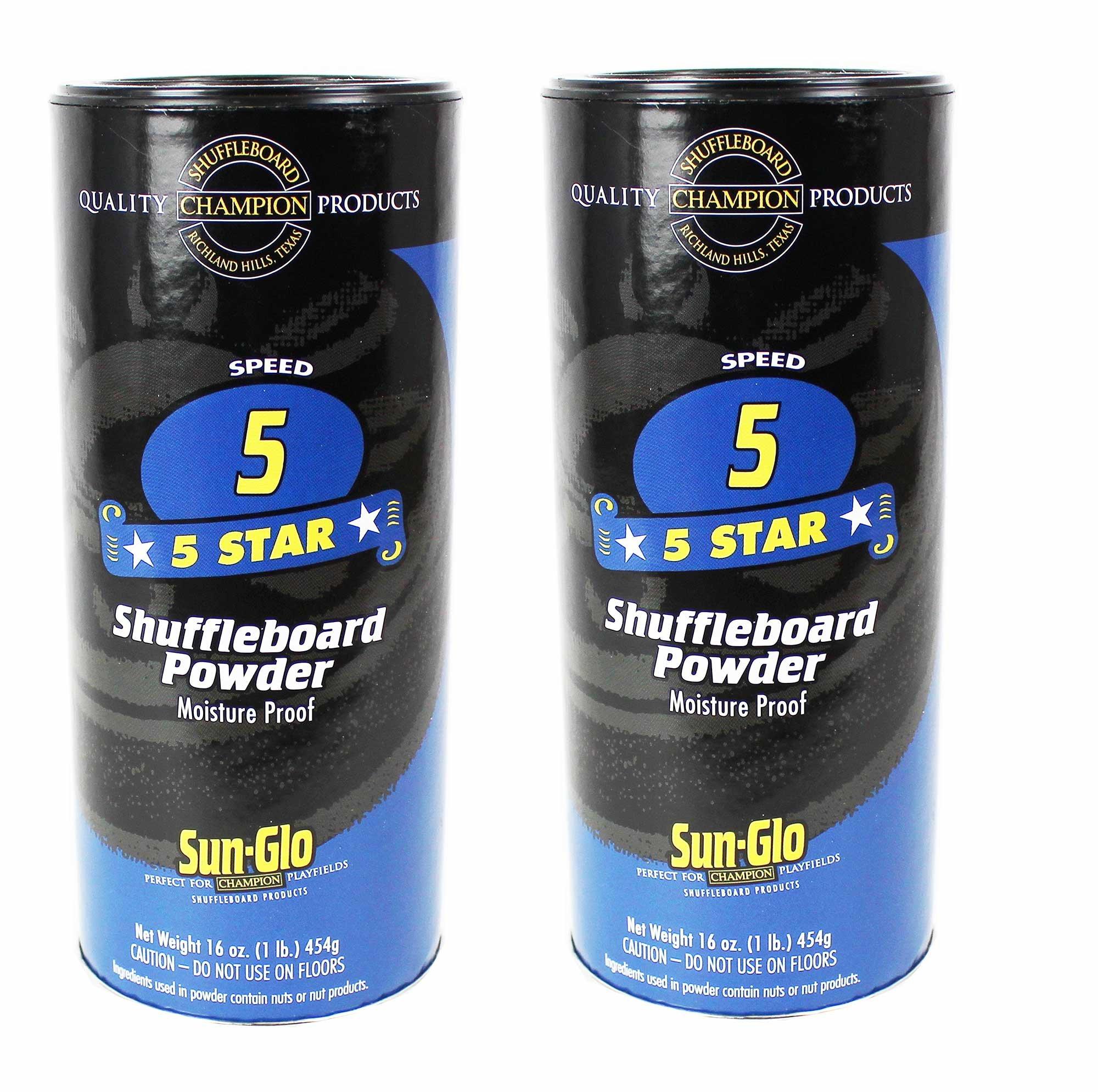 Sun-Glo #5 Shuffleboard Powder Wax (16 oz.) (Pack of 2) by Sun-Glo