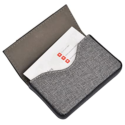 maxgear leather business card cases fashion business card holder with magnetic shut holds 25 business - Business Card Cases