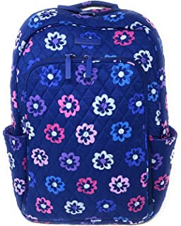 Vera Bradley Laptop Backpack (Updated Version) with Solid Color Interiors  (Ellie Flowers with b58ec9be27c6c