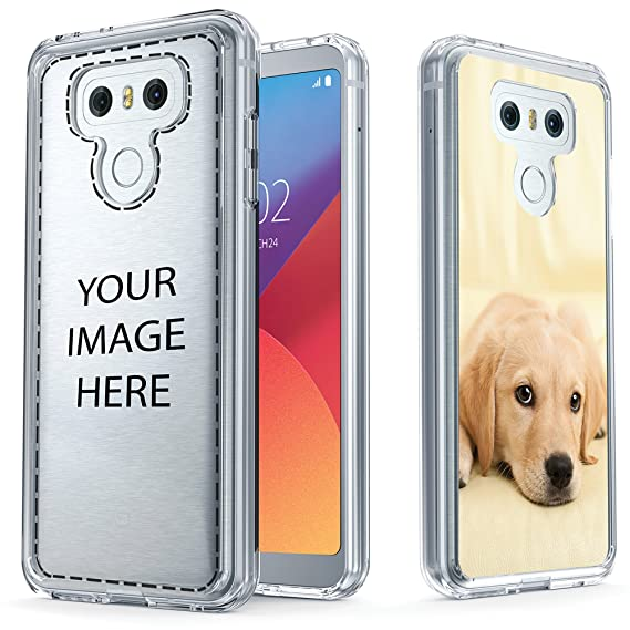 uk availability d5b5d dc9a8 True Color Case Compatible with LG G6 Custom Case, Create Your Own  Personalized Custom Picture HD Printed on Clear Back - Soft and Hard Thin  Shock ...