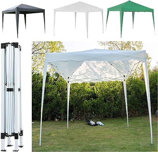 SiKy - Cenador plegable para jardín, 3 x 3 m, resistente al agua, resistente al agua, para fiestas, bodas, protección UV + bolsa de transporte, color verde, tamaño pop up gazebo tent: Amazon.es: Jardín