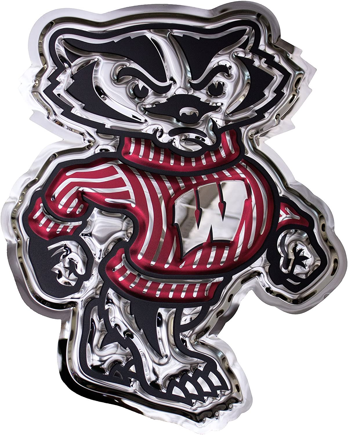 Chrome Domz NCAA Wisconsin Badgers Hockey Wall Plaque