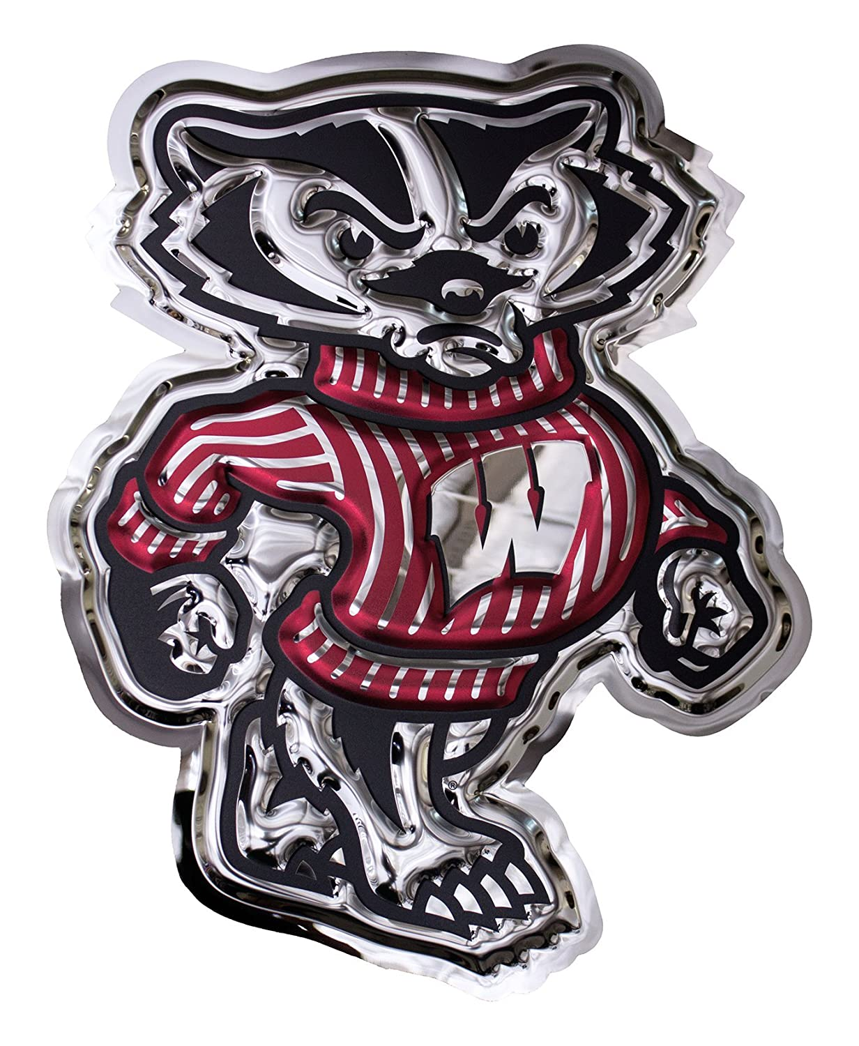 Chrome Domz NCAA Wisconsin Badgers Bucky Badger LG