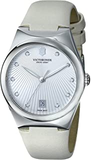Victorinox Womens 241631 Victoria Analog Display Swiss Quartz Beige Watch