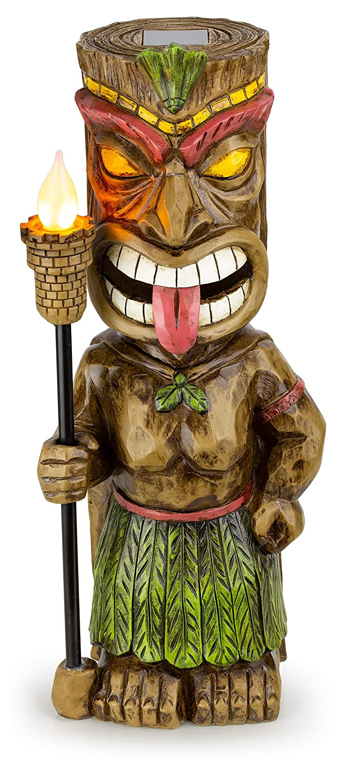 Tiki Solar Garden Light with Flickering Torch
