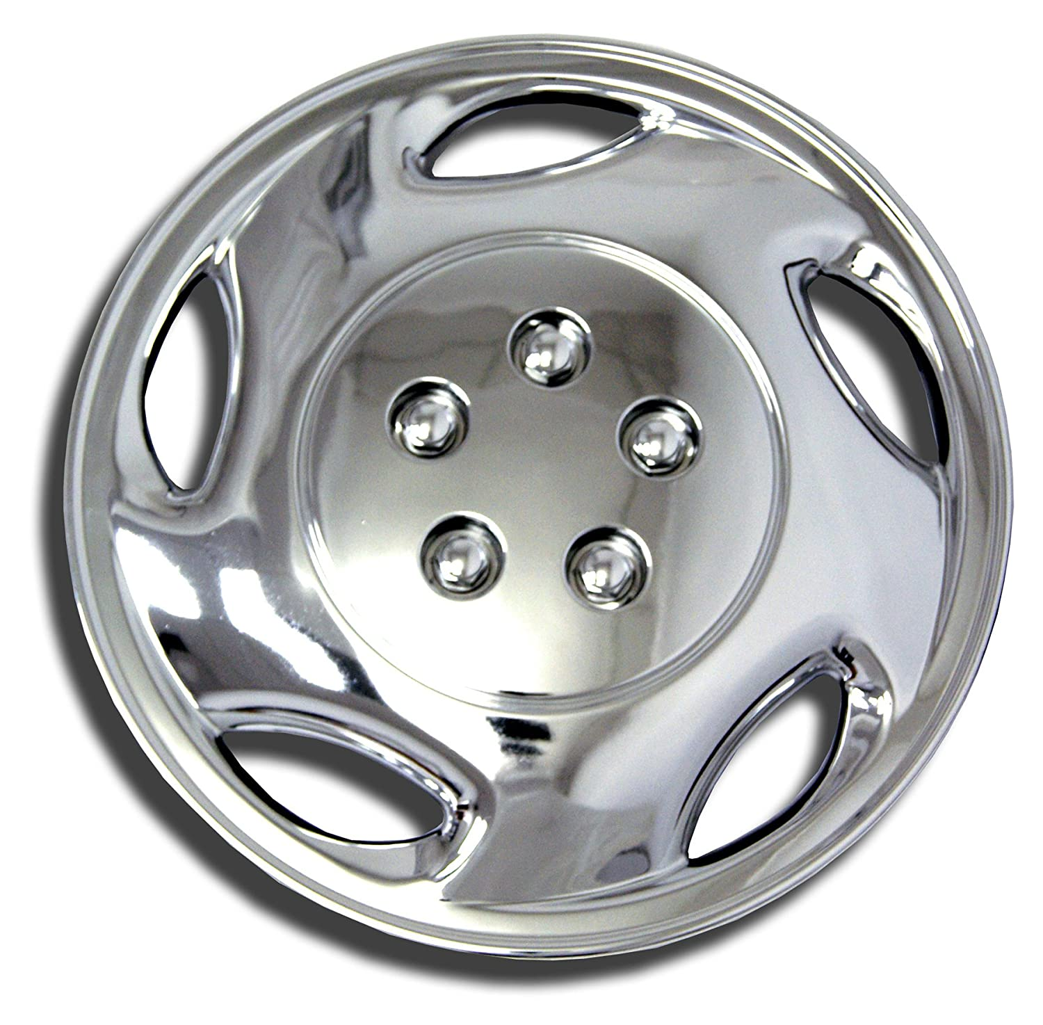 TuningPros WSC-941C15 Chrome Hubcaps Wheel Skin Cover 15-Inches Silver Set of 4