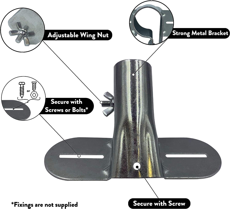 Support de manche en m/étal robuste avec support r/églable pour balais et balais