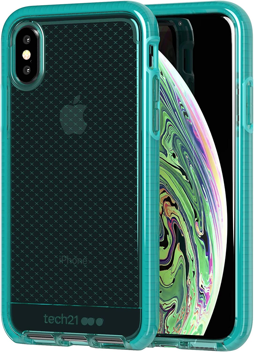 tech21 Evo Check for Apple iPhone X and XS Phone Case with 12 ft. Drop Protection - Vert (T21-6172)