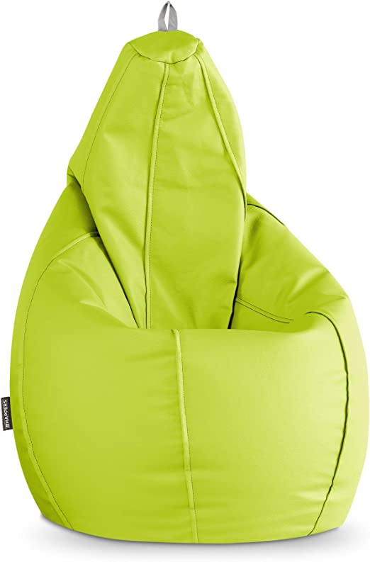 HAPPERS Puff Pera Polipiel Indoor Verde XL: Amazon.es: Hogar