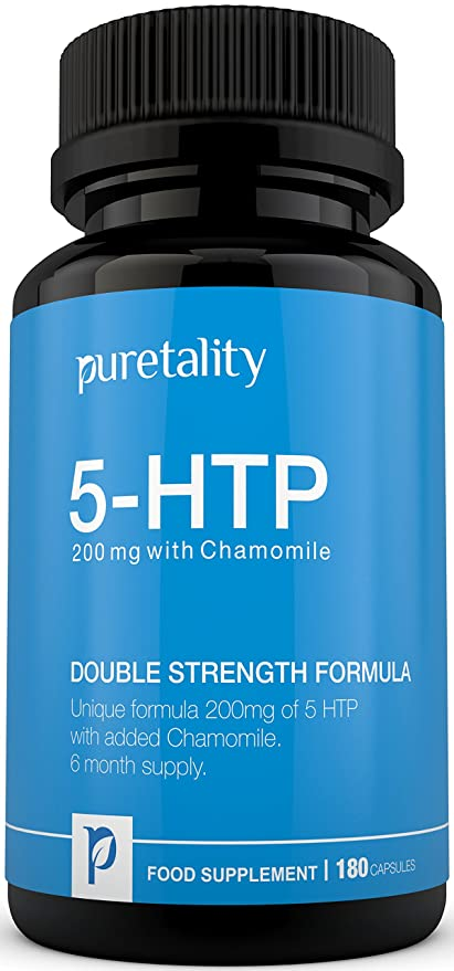 5-HTP 200mg, 180 Cápsulas (Suministro para 6 Meses) - 100%