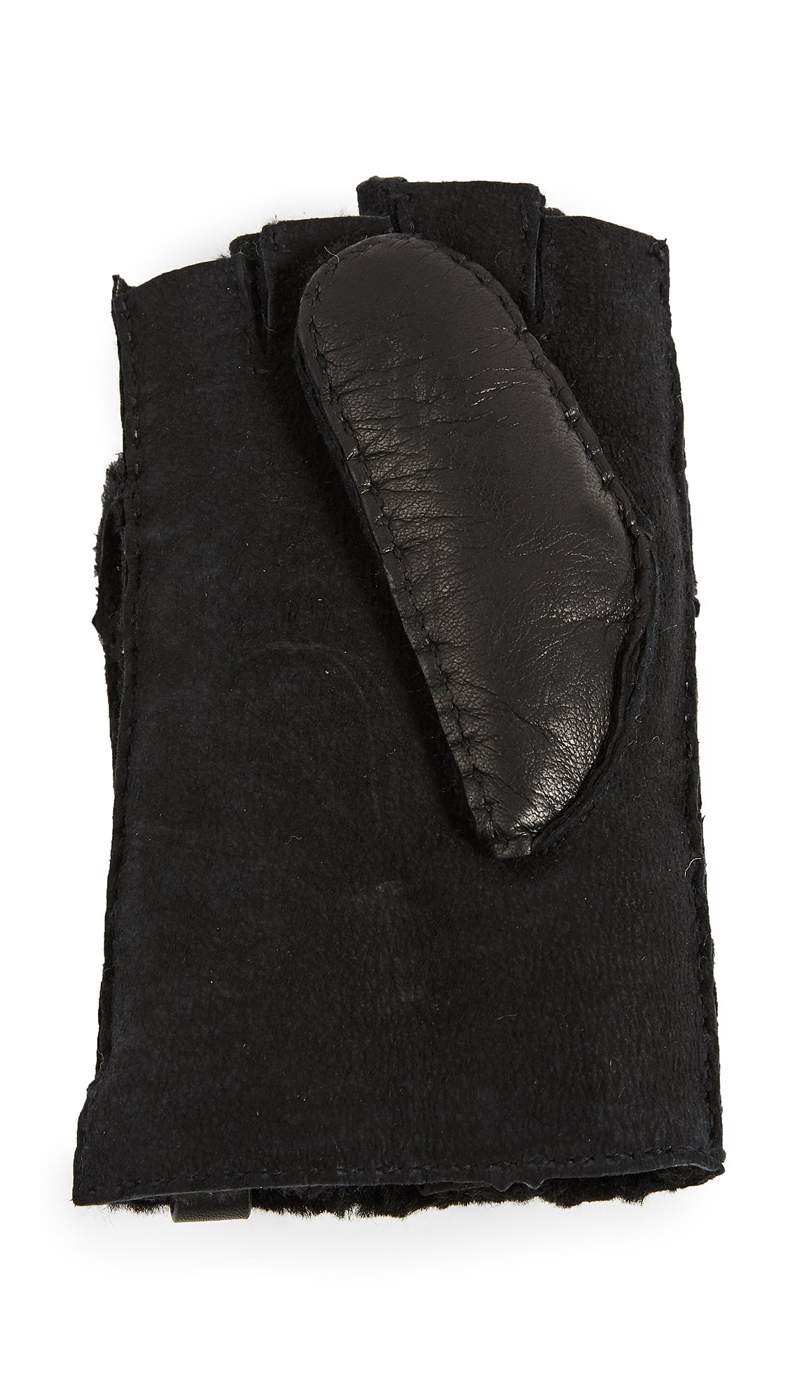 Mackage Women's Chukka Leather Pop-Top Mittens, Black, Medium by Mackage (Image #4)