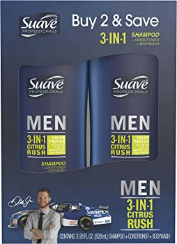 2-Pack Suave Men 3 in 1 Shampoo Conditioner Body Wash