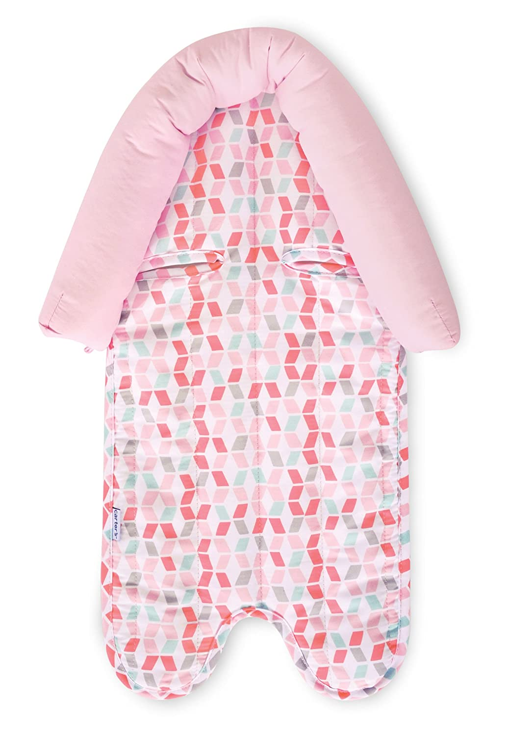 Pink//White Carters Infant Head Support for Carseats Lattice Stollers and Swings