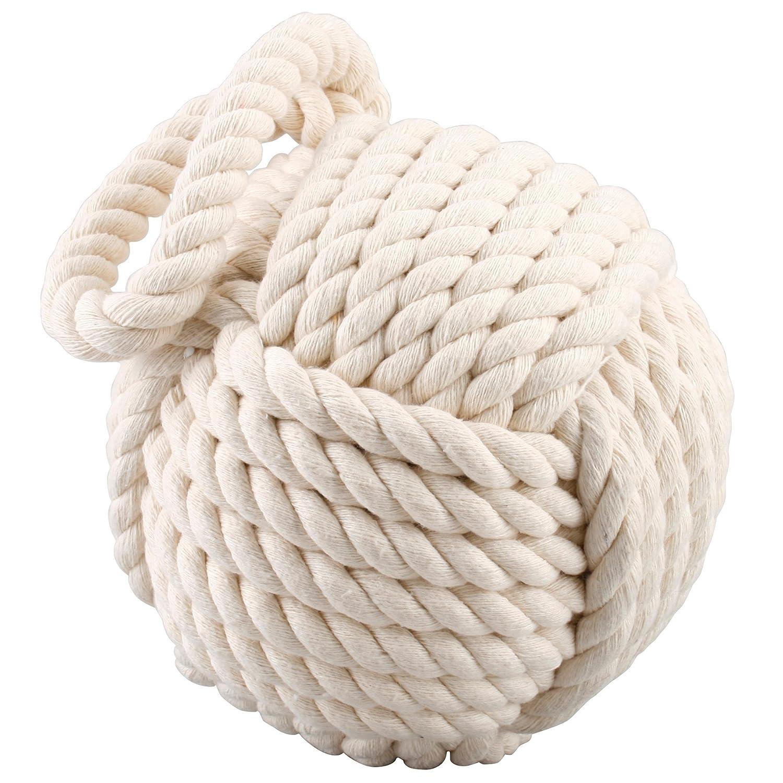 APT Gifts Heavy Butoir de porte en forme de nœ ud marin Crè me Carousel Home DOORSTOP