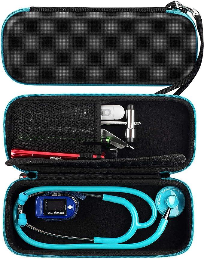 Estuche rígido para 3M Littmann Estetoscopio - Incluye bolsillo de malla para accesorios. Por COMECASE: Amazon.es: Salud y cuidado personal