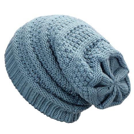Dafunna Cappello Invernale Unisex Slouch Beanie Berretti in Maglia Morbido  e Caldo Cappelli Invernali per Donna da082c2cf2d8