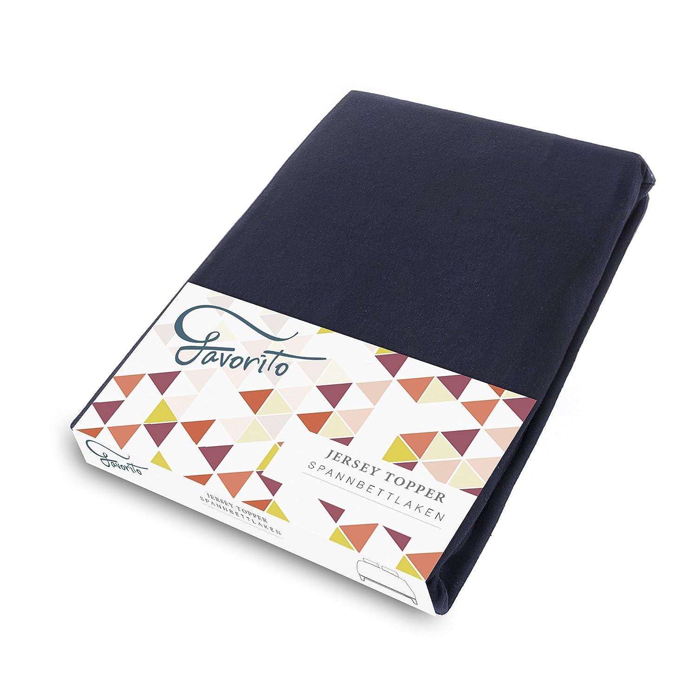 Favorito Jersey Spannbettlaken - 100% Baumwolle Spannbetttuch - 90x200 - 100x200 cm, Taupe Magita