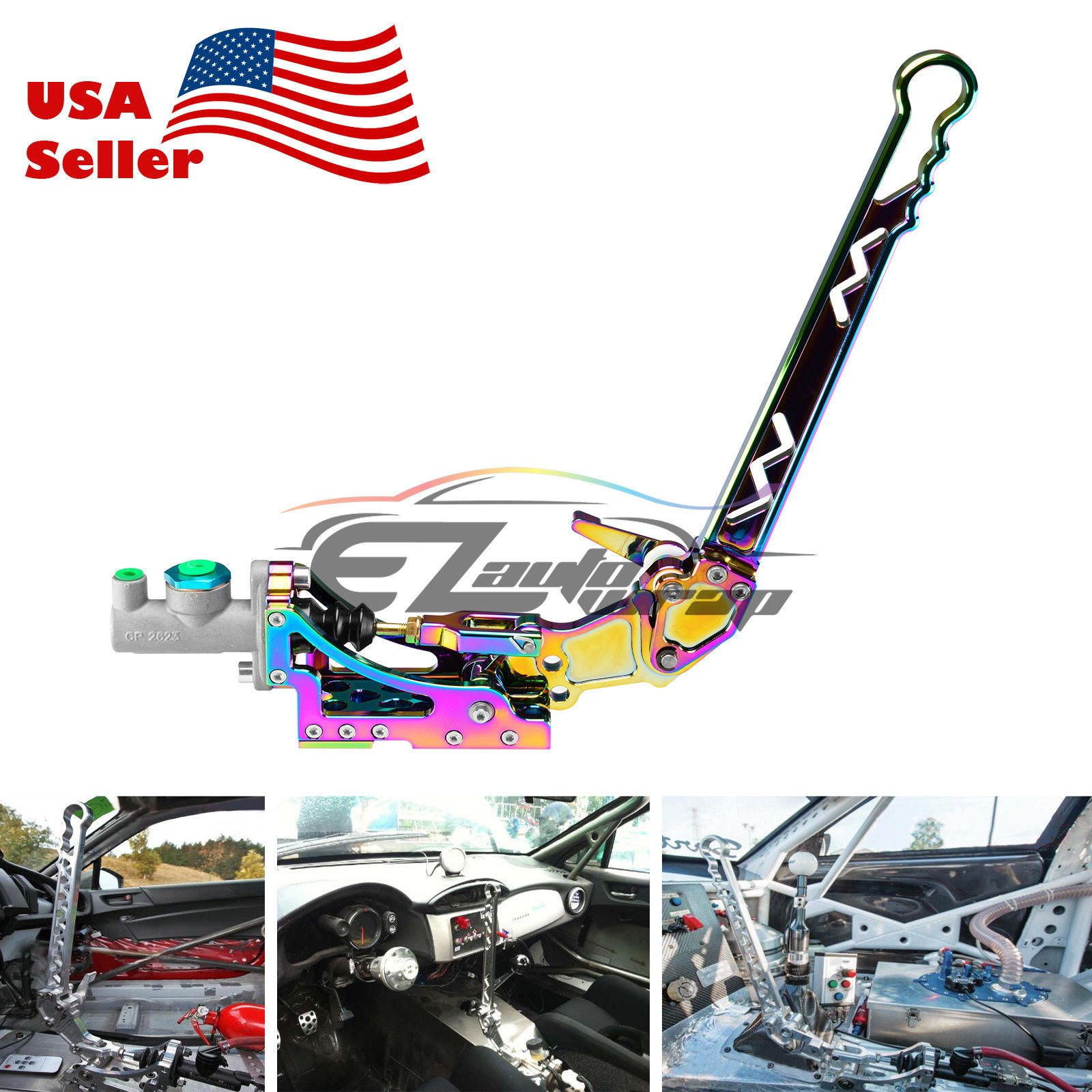 EZAUTOWRAP Neo Chrome Hydraulic Racing Hand E Brake Drift Rally Drifting Handbrake Aluminium Lever HB05