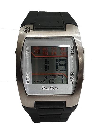 Reloj de Pulsera Rel Betis Balompie. Correa de Caucho Negra y Pantalla Digital: Amazon.es: Relojes