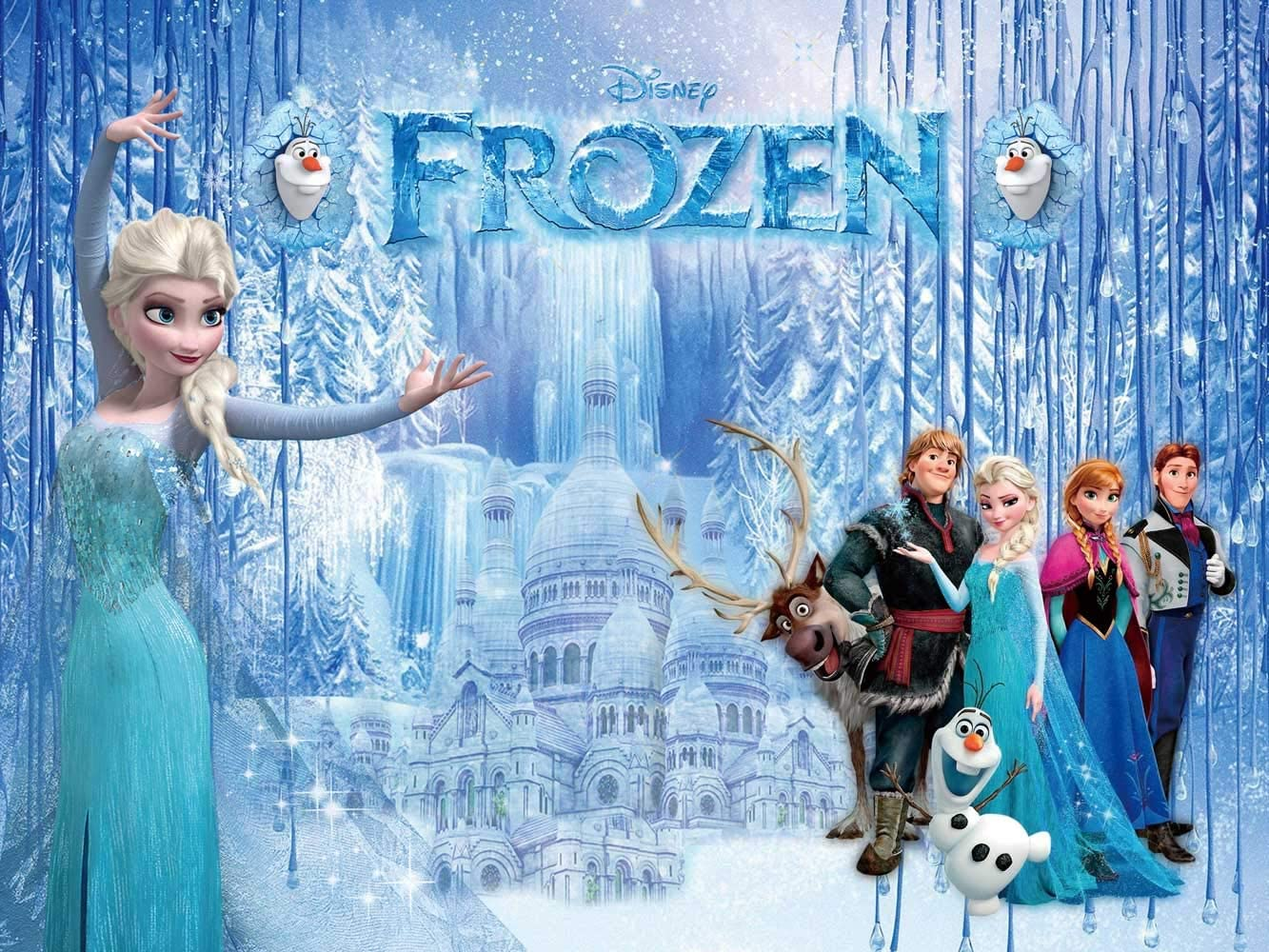 1st Birthday Backdrop | Frozen Photography | Elsa Anna Princess | Baby Shower Banner | for Girls | Background | Party Supplies