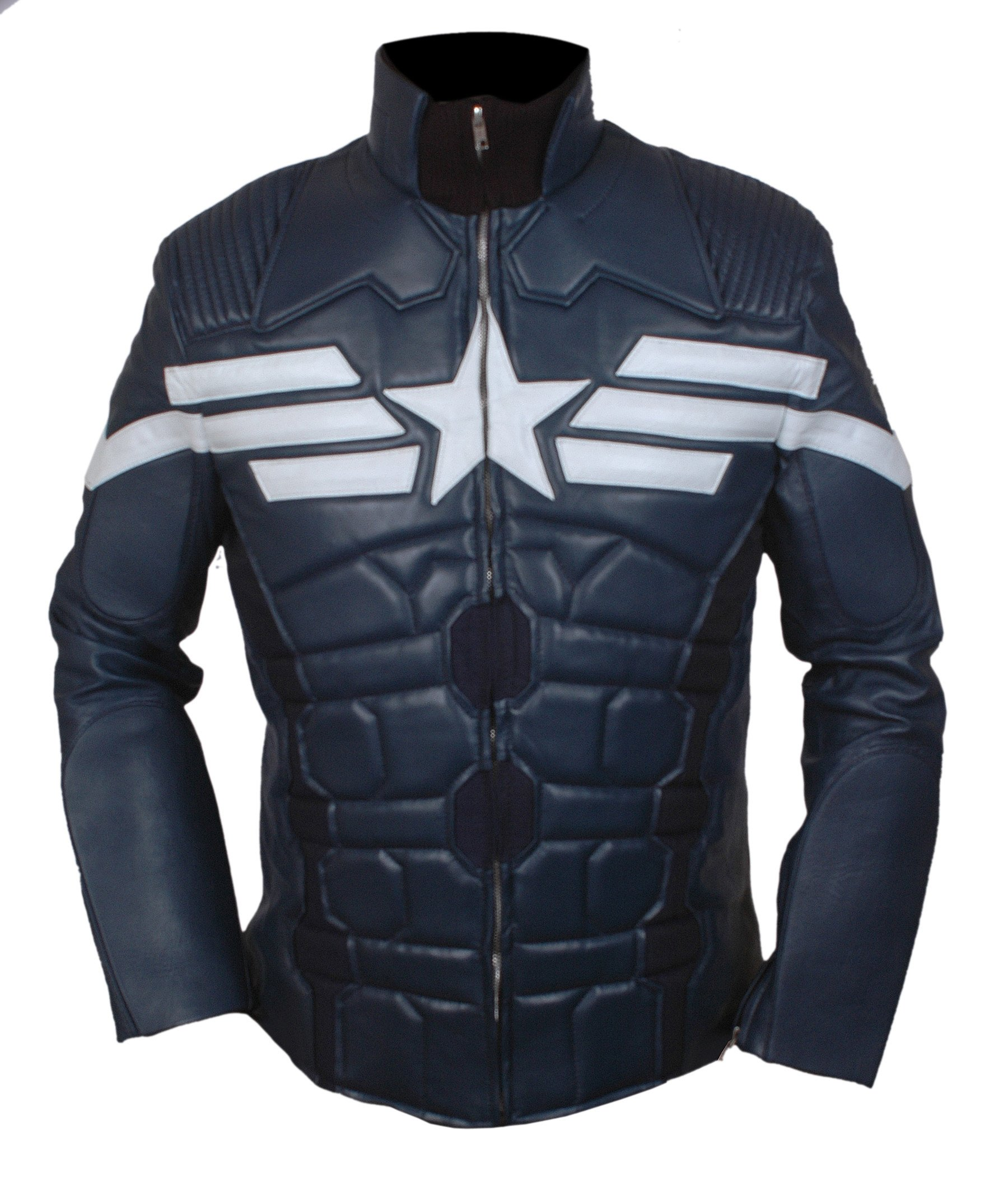 F&H Boy's Captain America Winter Soldier Jacket XL Blue