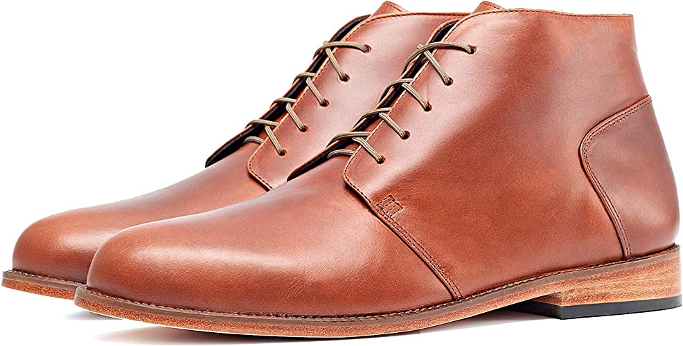 Men/'s Brown Chukka Boots in Genuine Leather