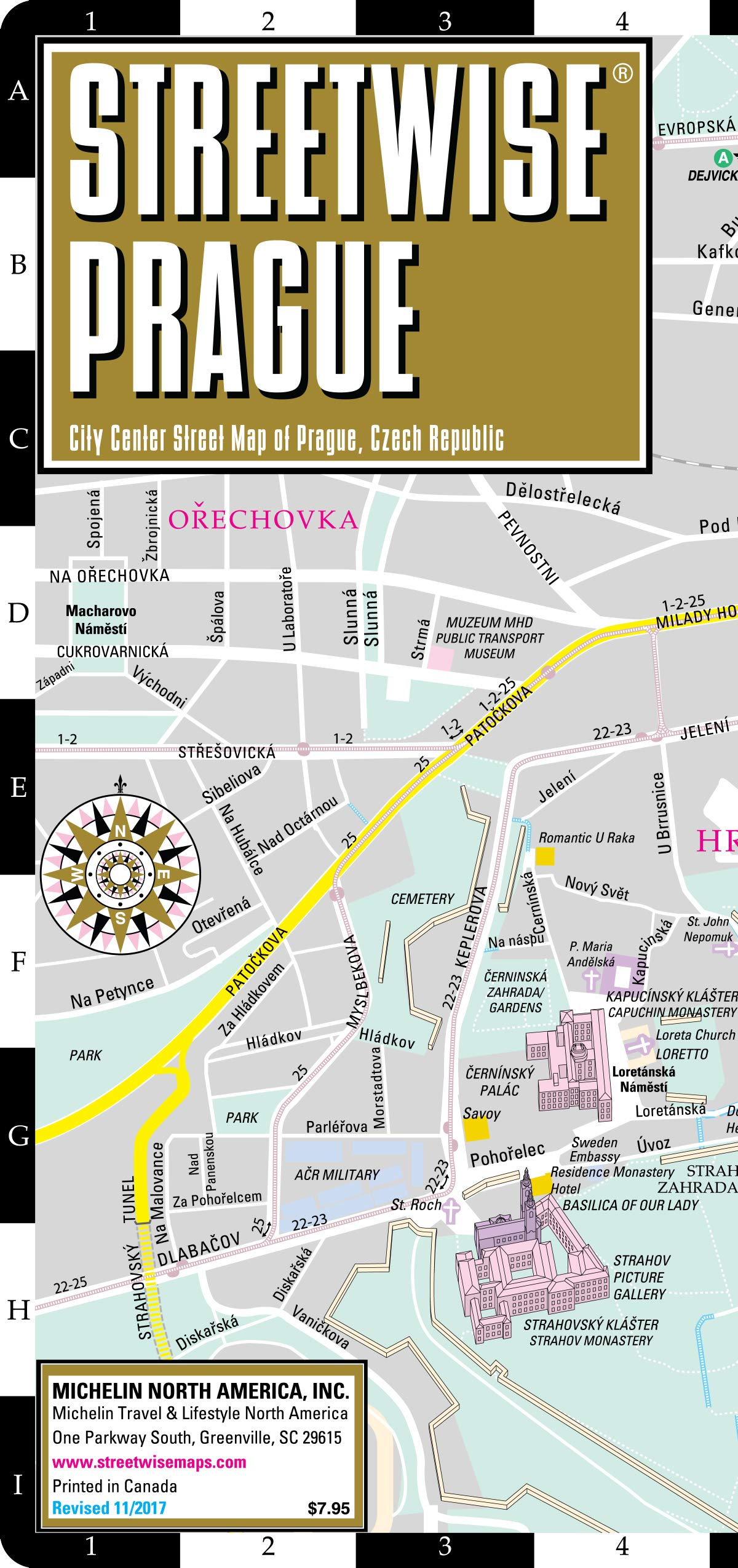Streetwise Prague Map - Laminated City Center Street Map of ...