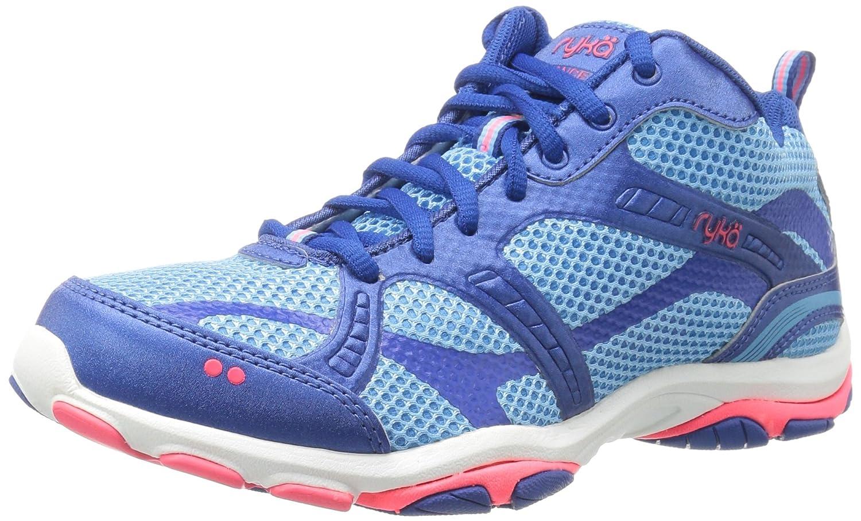 Ryka Women's Enhance 2 Cross-Trainer Shoe 11 B(M) US|Blue/Coral