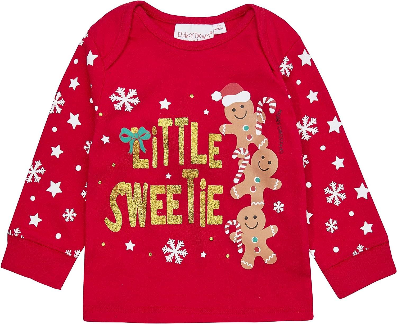 Metzuyan Baby Boys /& Girls Christmas Long Sleeved Pyjama Set