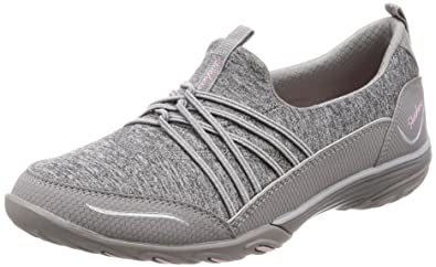 d03617299d1 Skechers Empress Solo Mood Womens Slip On Sneakers Gray 5.5
