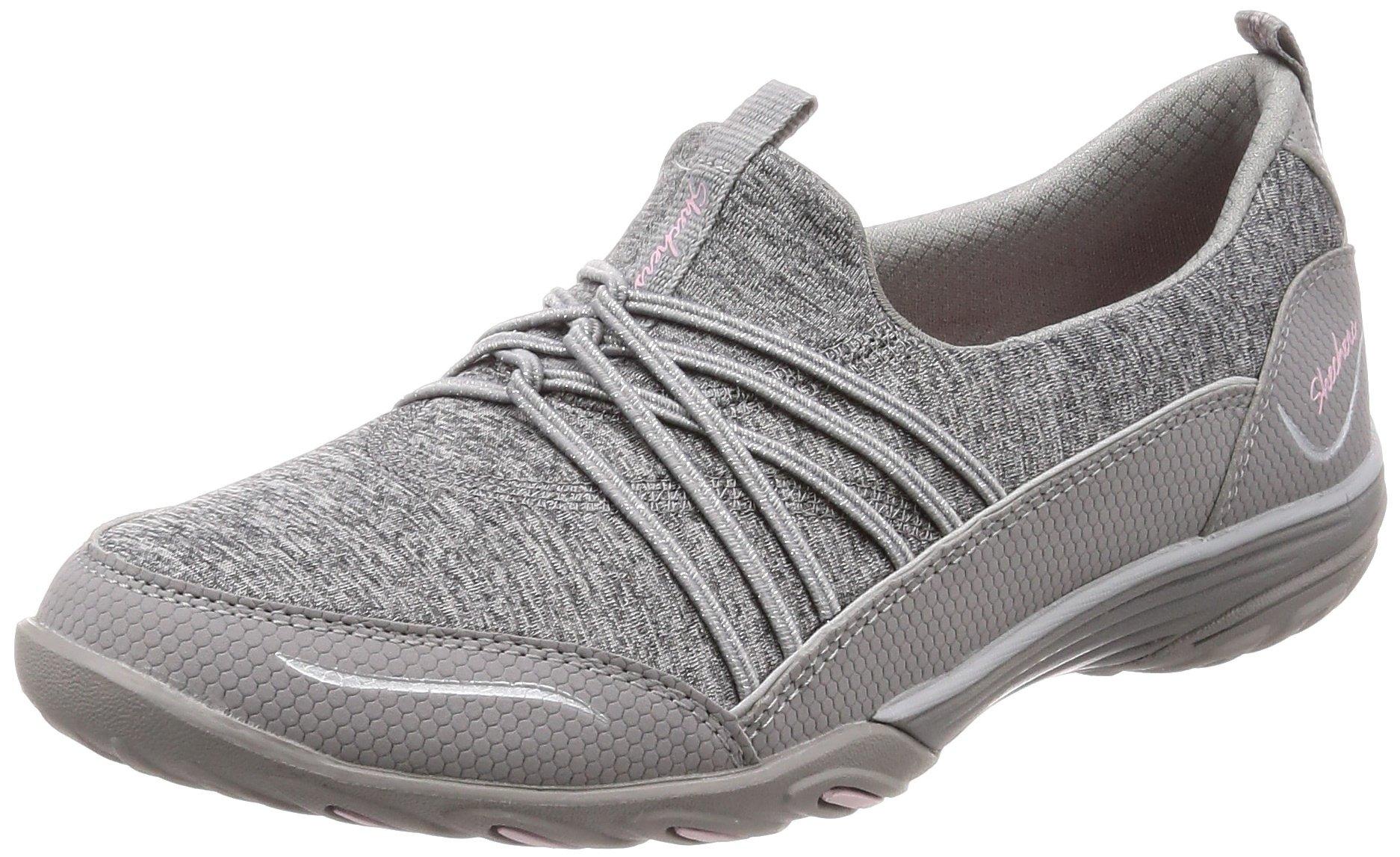 Skechers Empress Solo Mood Womens Slip On Sneakers Gray 9